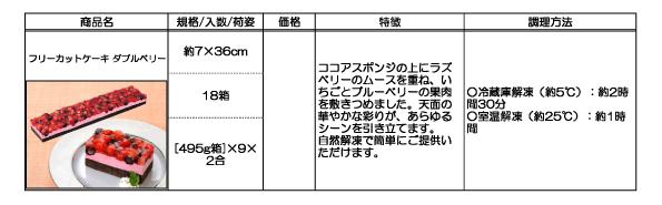 フリーカットケーキ(ダブルベリー)の詳細