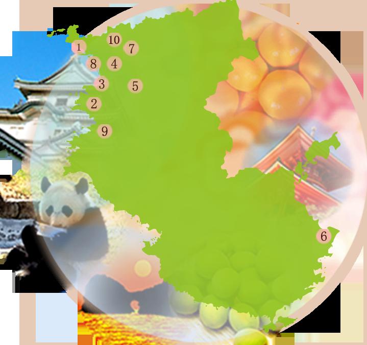 和歌山の酒造マップ