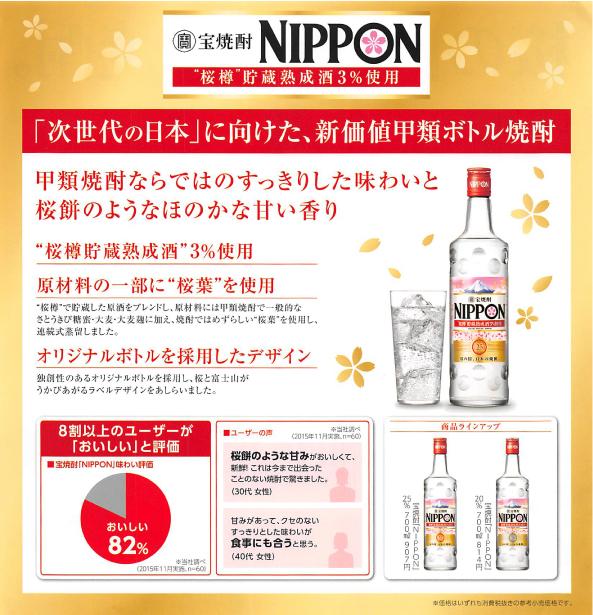 宝焼酎「NIPPON」商品紹介