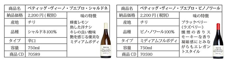 日本初入荷チリワイン詳細